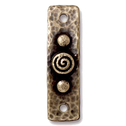 TierraCast Spiral and Rivets Link / pewter with a brass oxide finish / 94-3156-27