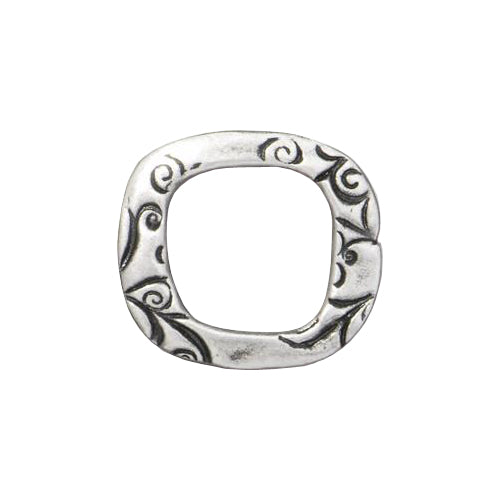 TierraCast 16mm Jardin Square Link / pewter with antique finish / 94-3201-40