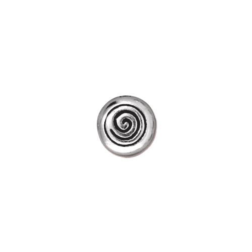 TierraCast Spiral Bead / pewter with antique silver finish / 94-5544-12
