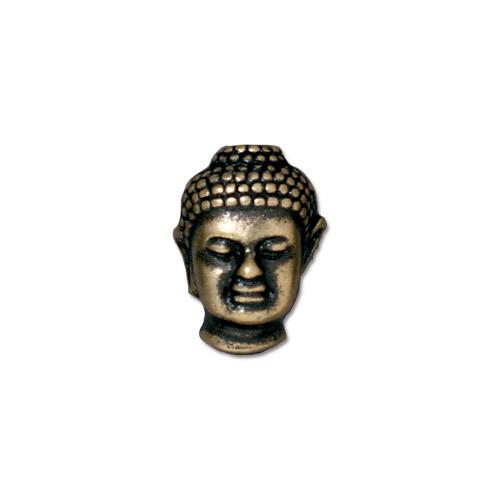TierraCast Buddha Bead / pewter with a brass oxide finish / 94-5718-27