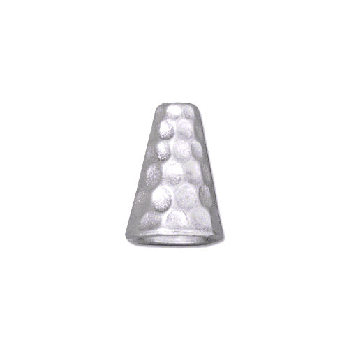 TierraCast Hammertone Tall Cone / pewter with a bright rhodium finish  / 94-5736-61