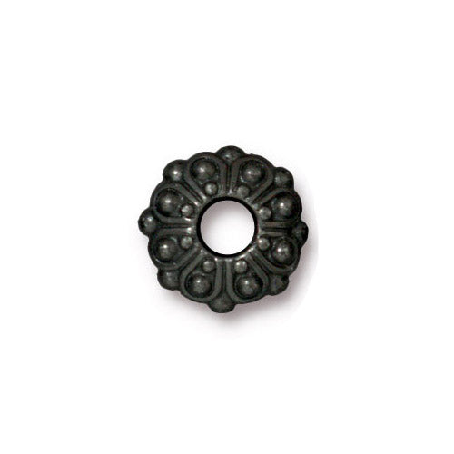 TierraCast Casbah Euro Euro Bead / pewter with a black finish / large hole bead / 94-5760-13