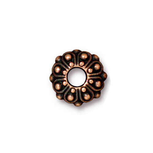 TierraCast Casbah Euro Euro Bead / pewter with antique copper finish / large hole bead / 94-5760-18