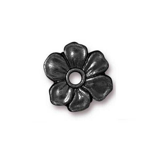 TierraCast Apple Blossom Rivetable Bead / pewter with a black finish / 94-5801-13