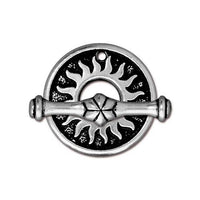 TierraCast Del Sol Toggle Clasp / pewter with antique silver finish / 94-6136-12