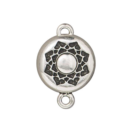 TierraCast Lotus Magnetic Clasp / pewter with antique silver finish / 94-6234-12