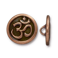 TierraCast Om Button / pewter with antique copper finish  / 94-6568-18