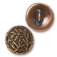 TierraCast Bamboo Button / pewter with antique copper finish  / 94-6569-18
