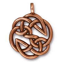 TierraCast Open Knot Pendant / pewter with antique copper finish  / 94-7508-18