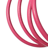 FUCHSIA Regaliz 10 x 6mm Leather Cord / sold by the foot / jewelry leather for bracelets