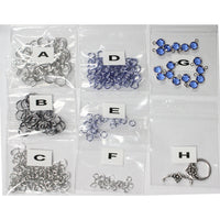 Component Kit for Flowers in Bloom Chainmail Bracelet (Sapphire Blue and Silver)