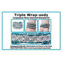 Component Kit for Triple Wrap-sody Chainmail Bracelet
