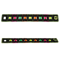 Neon Nights Peyote Stitch Bracelet / fits 6-1/2 to 6-3/4 Inch wrist / apple blossom button clasp