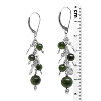 BC Jade Galaxy Earrings / 60mm length / sterling silver leverbacks