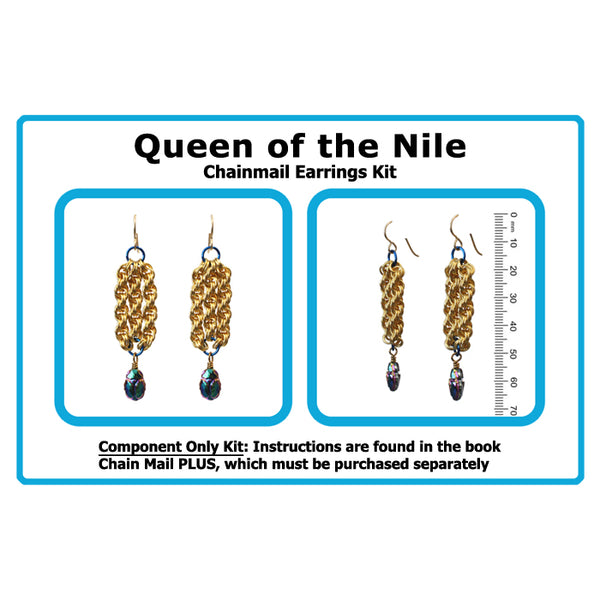 Component Kit for Queen of the Nile Chainmail Earrings