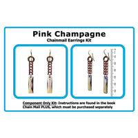 Component Kit for Pink Champagne Chainmail Earrings