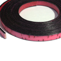 PINK BARK 10mm Flat Leather Strap / sold by the meter / 10 mm wide x 2 mm thick / Regaliz Euro leather