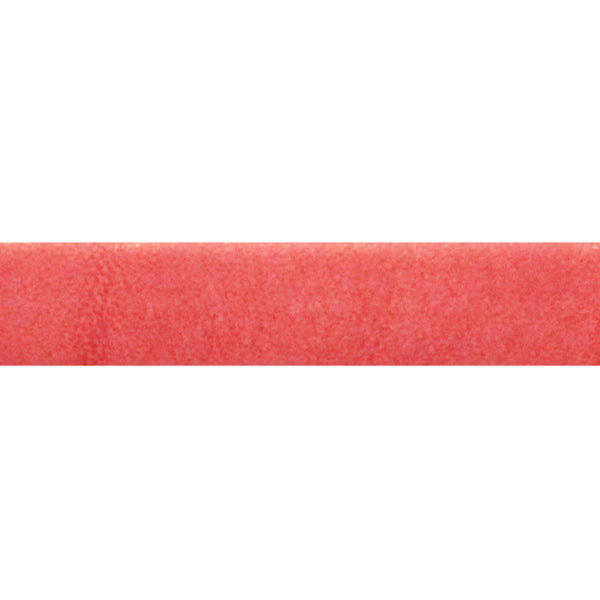 WATERMELON Italian Dolce Flat Leather Strap / sold by the meter / 10 mm wide x 2 mm thick / Regaliz Euro leather