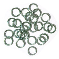 SHINY SEAFOAM GREEN / 10mm 12 GA Jump Rings / 25 Pack / sawcut round open anodized aluminum