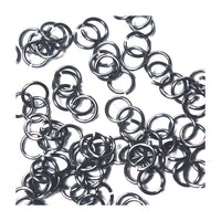 SHINY BLACK ICE / 4mm 20 GA Jump Rings / 5 Gram Pack (approx 240) / sawcut round open anodized aluminum