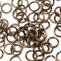 SHINY BRONZE - 7mm 16 GA AWG Jump Rings / 5 Gram Pack (approx 70) / sawcut round open anodized aluminum
