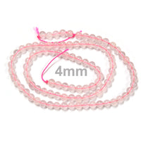 Rose Quartz Smooth Round Beads /  natural dyed translucent pink semi-precious stone beads