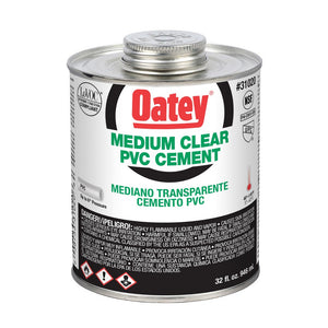 Oatey 32oz. PVC Medium Clear Cement - 31020
