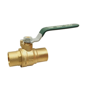 "RWV 1.5"" LF Brass Full Port Ball Valve - 5595AB"