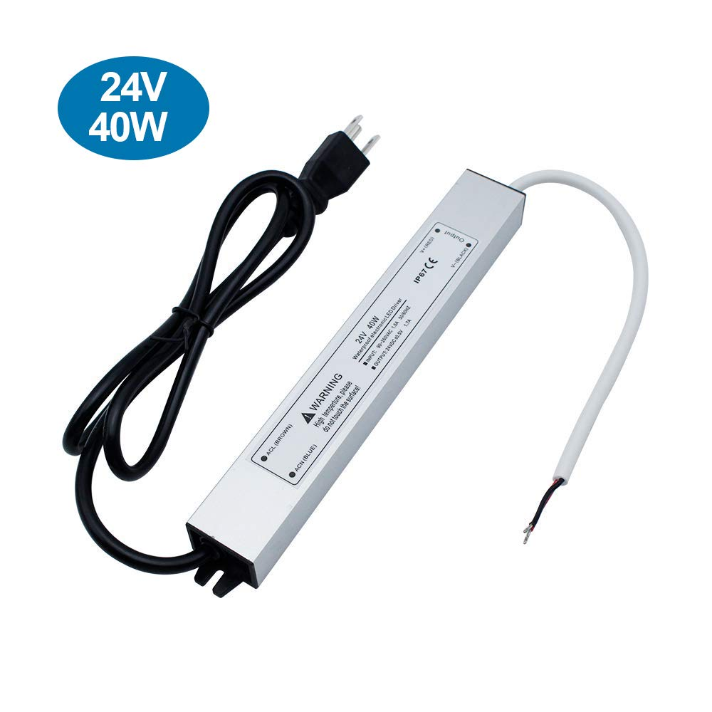 IP67 Waterproof 24V 1.7A 40W Power Supply
