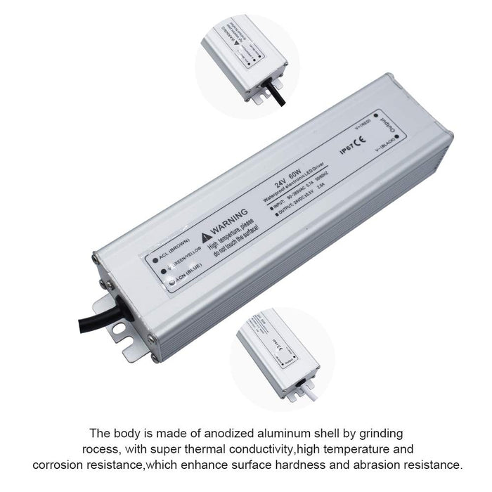 IP67 Waterproof 24V 2.5A 60W Power Supply