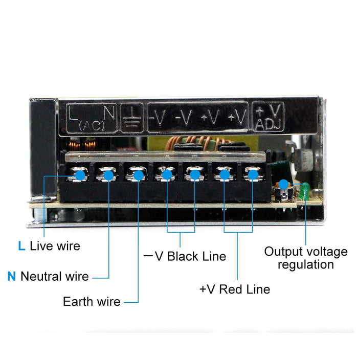 Universal Regulated Switching Power Supply 12V 10A 120W