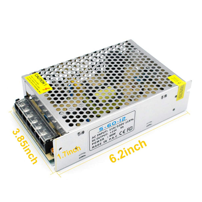 Universal Regulated Switching Power Supply 12V 5A 60W