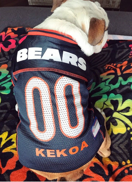 Chicago Bears Dog Jersey Personalized NFL Pet Clothes ed57ef313
