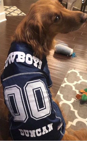 864532aa Dallas Cowboys Dog Jersey Personalized NFL – Tags4Paws
