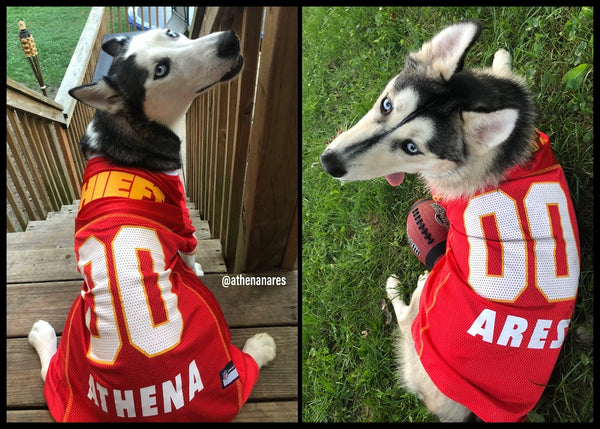 the latest 3c261 7b6f8 Kansas City Chiefs Dog Jersey Personalized NFL Pet Clothes