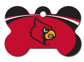 Louisville Cardinals Pet ID Tags -NCAA Engravable Bone Shape – Tags4Paws 0f559e361