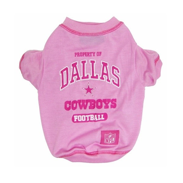 d2dd0cea97c Get your dog into the game with this officially licensed NFL pink dog t- shirt
