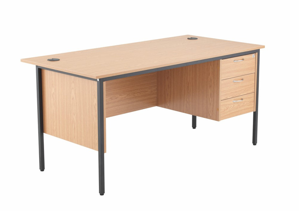 1532mm Single Pedestal Desk