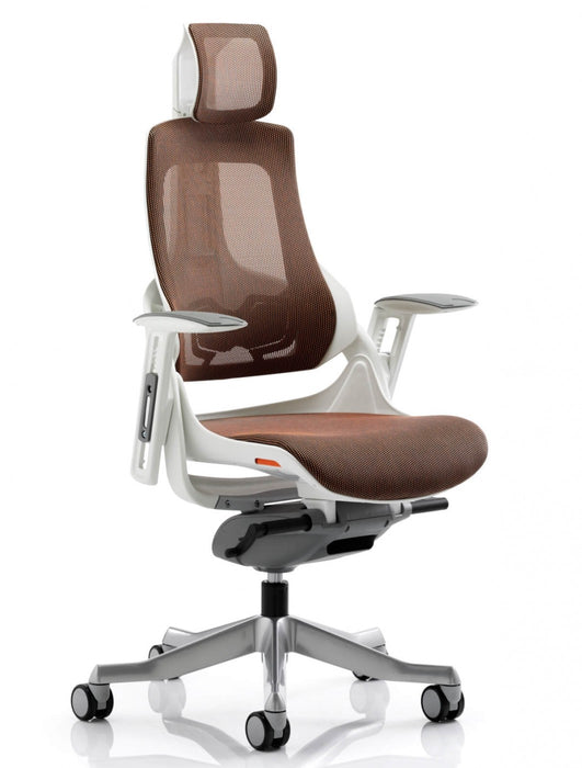Zure Executive Chair Mandarin Mesh With Arms With Headrest