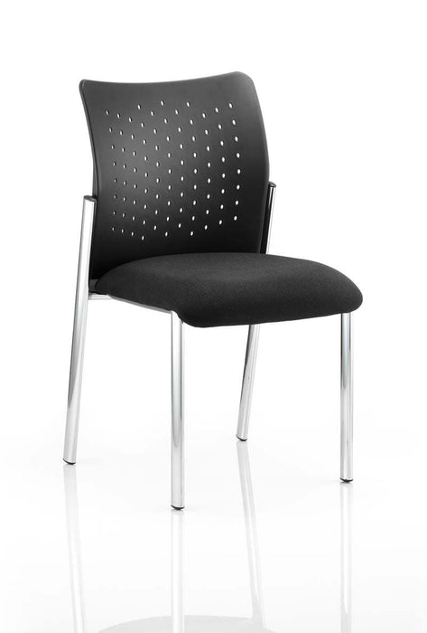 Academy Visitor Chair Black Fabric Back With Arms