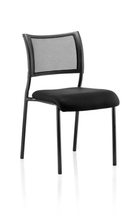 Brunswick Visitor Black Fabric Chair