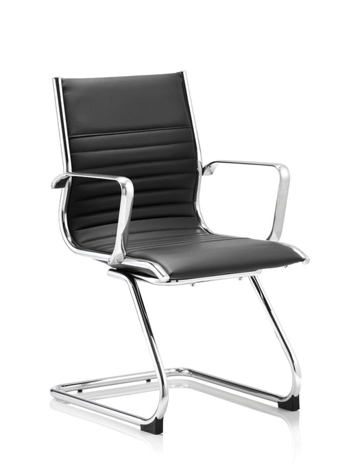 Ritz Cantilever Chair Bonded Leather With Arms