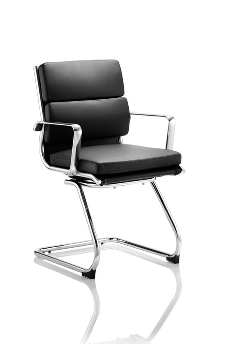 Savoy Cantilever Chair Bonded Leather With Arms