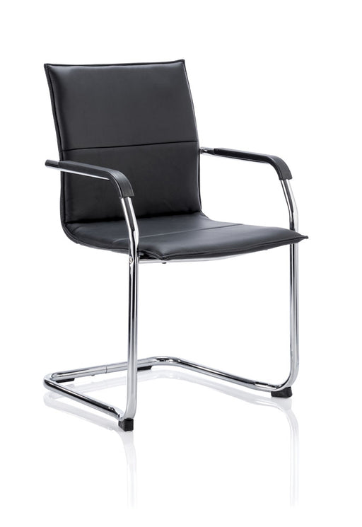 Echo Cantilever Chair Bonded Leather With Arms