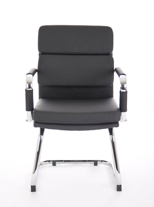 Advocate Visitor Chair Bonded Leather With Arms - 5 Chairs