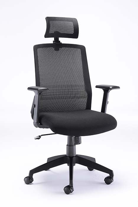 Denali High Back Chair With Headrest Mesh