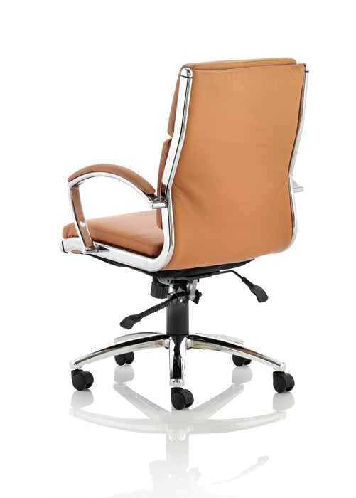 Classic Executive Chair High Back Tan With Arms