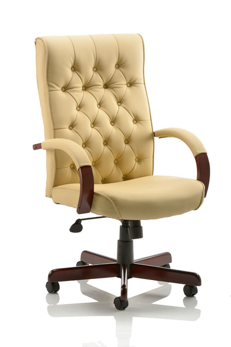 Chesterfield Executive Chair Leather With Arms