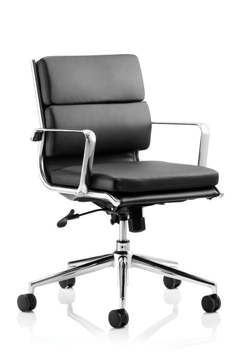 Savoy Executive Medium Back Chair Bonded Leather With Arms