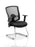 Portland Cantilever Chair Black Mesh With Arms